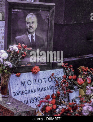 Nov. 2, 1989 - Moscow, RU - The grave of Vyacheslav Mikhailovich Molotov (1890 – 1986), in Novodevichy Cemetery - Stock Photo