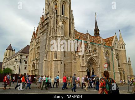Mathias Church (Mátyás Templom) Buda Budapest Hungary - Stock Photo