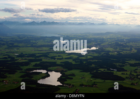 River Lech and Lake Deutensee - Stock Photo