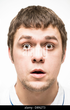 grimace on his face - Stock Photo