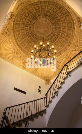 TOLEDO - MARCH 8: Ceiling of stairs in Monasterio San Juan de los Reyes or Monastery - Stock Photo