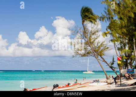 View of the sea and the beach in Bavaro - Stock Photo