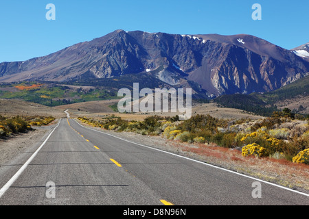 The road went off.  American road - Stock Photo
