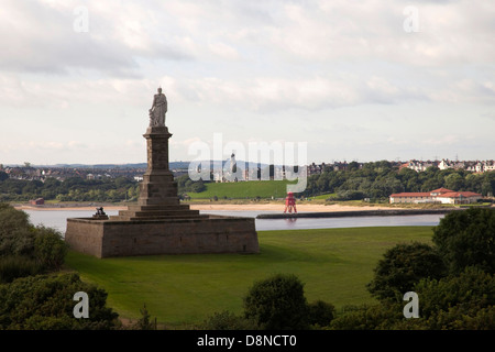 Tynemouth monument - Stock Photo