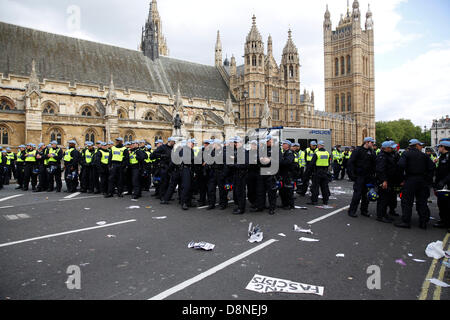 London, UK. 1st June 2013. Rally at Westminster against the BNP national party by anti fascist campaigners. Credit: - Stock Photo
