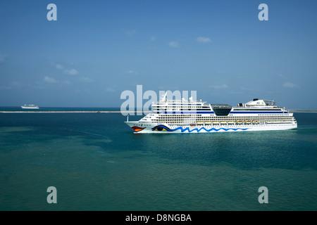 Cruise ship Aidablu leak, Port Rashid, Dubai, UAE - Stock Photo