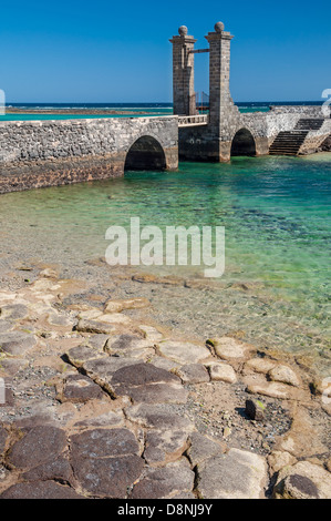 Architectural detailes in Arecife, Lanzarote - Stock Photo