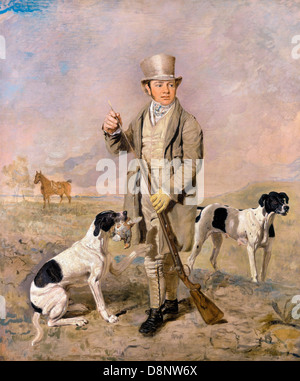 Benjamin Marshall, Portrait of a Sportsman, Possibly Richard Prince 1825-1826 Oil on canvas. Yale Center for British - Stock Photo