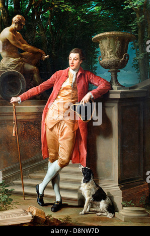 Pompeo Batoni, Portrait of John Talbot, later 1st Earl Talbot 1773 Oil on canvas. The J. Paul Getty Museum. - Stock Photo