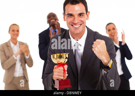 smart business team winning a competition - Stock Photo
