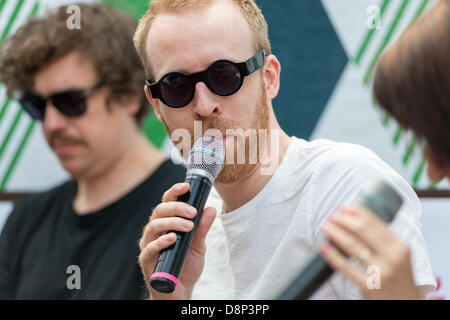 Moscow, Russia. 1st June, 2013. Al Doyle on Hot Chip press conference on Moscow Ahmad Tea Music Festival. Moscow, - Stock Photo
