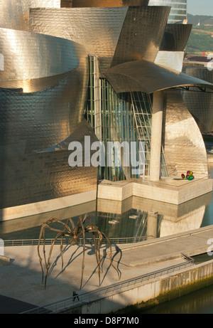 Guggenheim Museum, Bilbao, Spain, Architect : Frank Gehry - Stock Photo