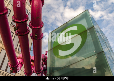 Potsdamer Platz and an S-Bahn logo. Berlin, Germany. - Stock Photo