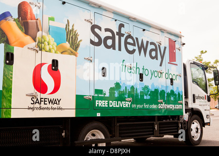 Safeway home delivery trucks Stock Photo 57046152 Alamy