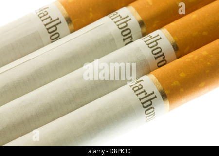 Marlboro cigarettes - USA - Stock Photo