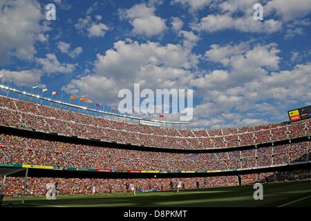Barcelona, Spain. 1st June 2013. General view, JUNE 1, 2013 - Football / Soccer : Spanish 'Liga Espanola' match - Stock Photo