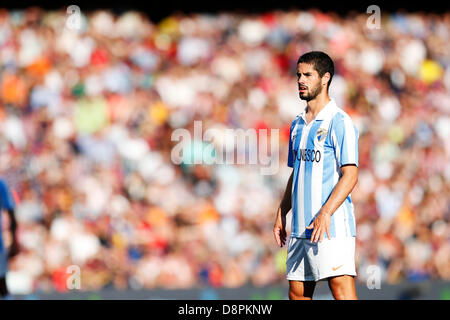 Barcelona, Spain. 1st June 2013. Isco (Malaga), JUNE 1, 2013 - Football / Soccer : Spanish 'Liga Espanola' match - Stock Photo