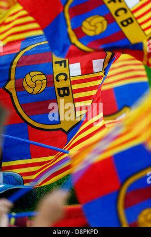 Barcelona, Spain. 1st June 2013. Barcelona fans, JUNE 1, 2013 - Football / Soccer : Spanish 'Liga Espanola' match - Stock Photo