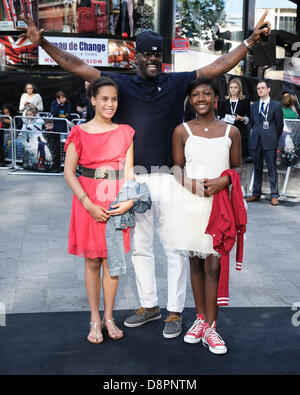 London, UK. 2nd June, 2013. Idris Elba attends the World Premiere of World War Z at The Empire Leicester Square, - Stock Photo