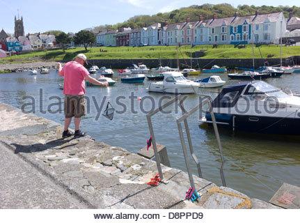 Aberaeron Harbour, Ceredigion, Wales, UK - Stock Photo
