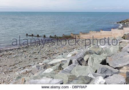 Aberaeron beach, Ceredigion, Wales, UK - Stock Photo