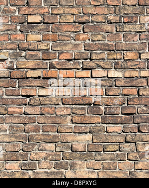 old, weathered brick wall texture background - Stock Photo