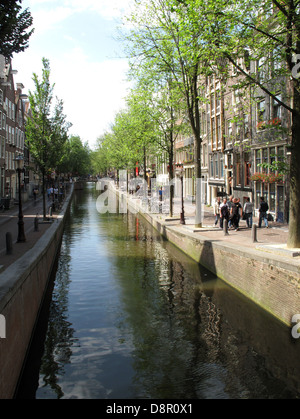 City of Canals, Amsterdam, Holland. - Stock Photo