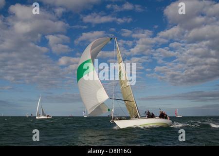 Round The Island Race 2013 - Stock Photo