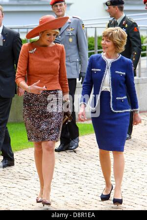 Berlin, Germany. 3rd June 2013.The Dutch King Willem-Alexander and Queen Maxima on a two-day visit to Germany. June - Stock Photo