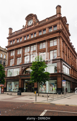 Primark Bank Buildings store in Belfast, Northern Ireland, prior to it burning down on the 28th August 2018. - Stock Photo