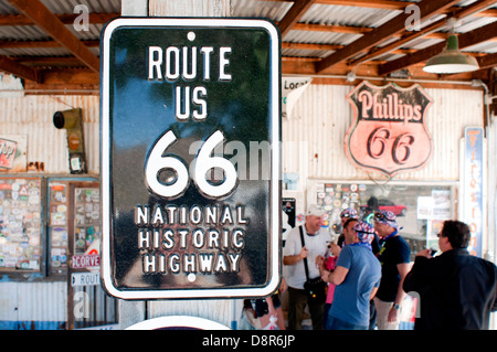 Hackberry General Store, or Route 66 in Arizona, USA. - Stock Photo