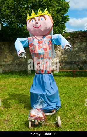 Life-size puppets made by schoolchildren - France. - Stock Photo