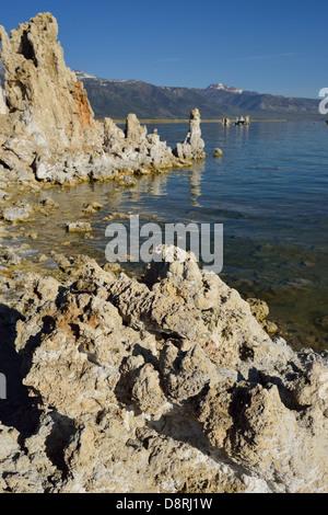 Tufa formations at the south rim, Mono Lake CA - Stock Photo