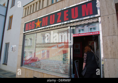 KGB Muzeum the KGB Museum Mala Strana district Prague city Czech Republic Europe - Stock Photo