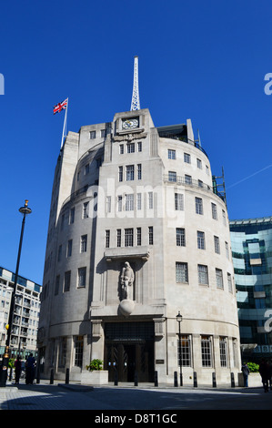 BBC Broadcasting House, Portland Place, London - Stock Photo