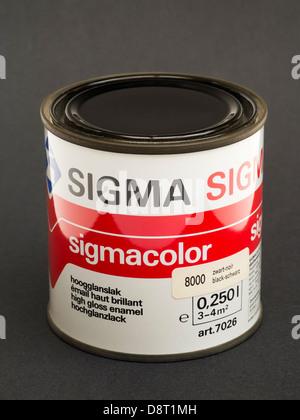 Sigma Paint Tin on Black - Stock Photo