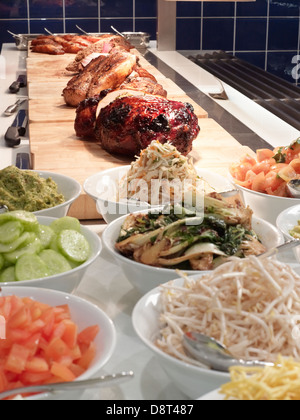 Arrangement of different foods - Stock Photo
