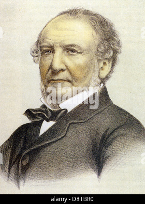 WILLIAM GLADSTONE  (1809- 1898) British Liberal statesman - Stock Photo