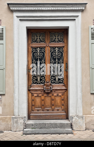 A typical French front door - Stock Photo