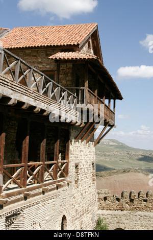 Ancient cave monastery complex of Davit Gareja, Georgia, Caucasus region - Stock Photo