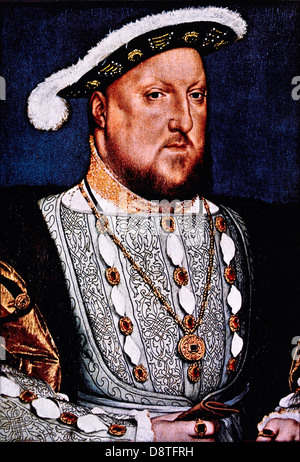 Henry VIII (1491-1547), King of England 1509-47, Portrait by Hans Holbein, 1536 - Stock Photo