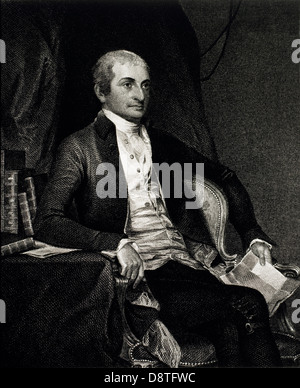John Jay (1745-1829), American Statesman, First Chief Justice of the USA, Engraving Published 1859 - Stock Photo