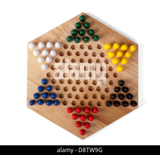 chinese checkers wooden - Stock Photo