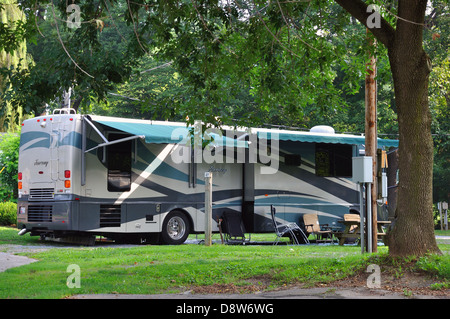 Recreational Vehicles Parked In A Campground At Picacho