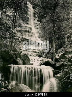 Bridal Veil Falls at Leura - Stock Photo
