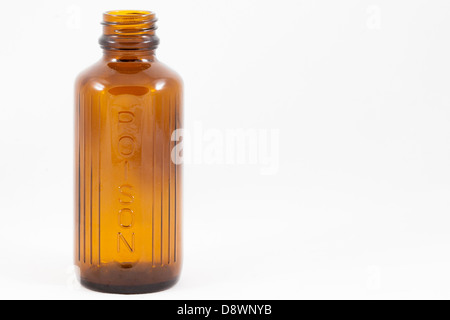 An isolated poison bottle - Stock Photo
