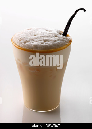 Rum,Bailey's,coconut milk and vanilla chilled cocktail