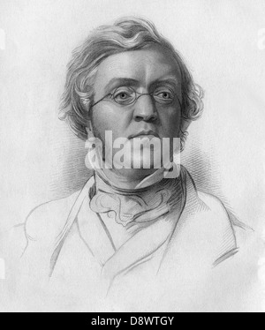 William Makepeace Thackeray (1811 – 1863), English novelist - Stock Photo