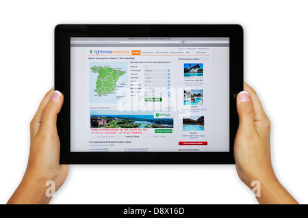 Rightmove online property search website on iPad - Stock Photo
