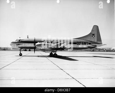 Convair 240 OO-AWT Sabena N20851 - Stock Photo
